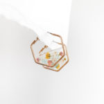 Petal (Blush) Hexa Earrings