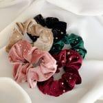Starry night scrunchies set