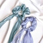 Satin scarf hair tie set